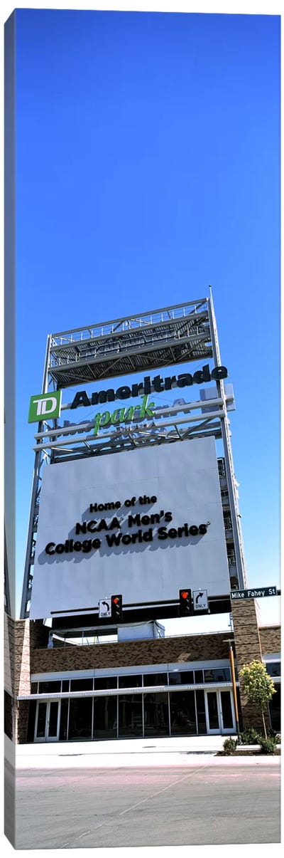 Sign board at a convention center, Century Link Center, Omaha, Nebraska, USA Canvas Art Print