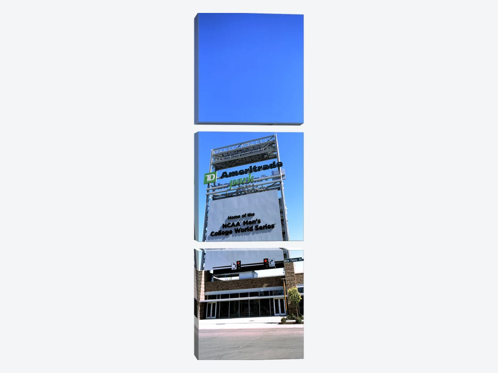 Sign board at a convention center, Century Link Center, Omaha, Nebraska, USA by Panoramic Images 3-piece Canvas Art Print
