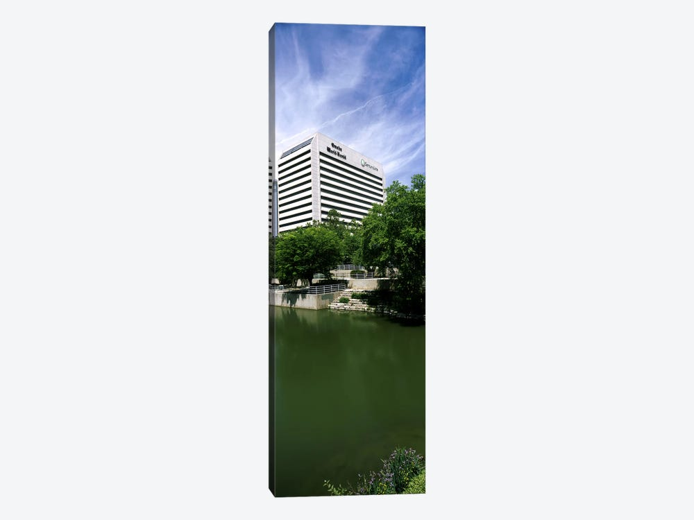 Building at the waterfront, Qwest Building, Omaha, Nebraska, USA by Panoramic Images 1-piece Canvas Art