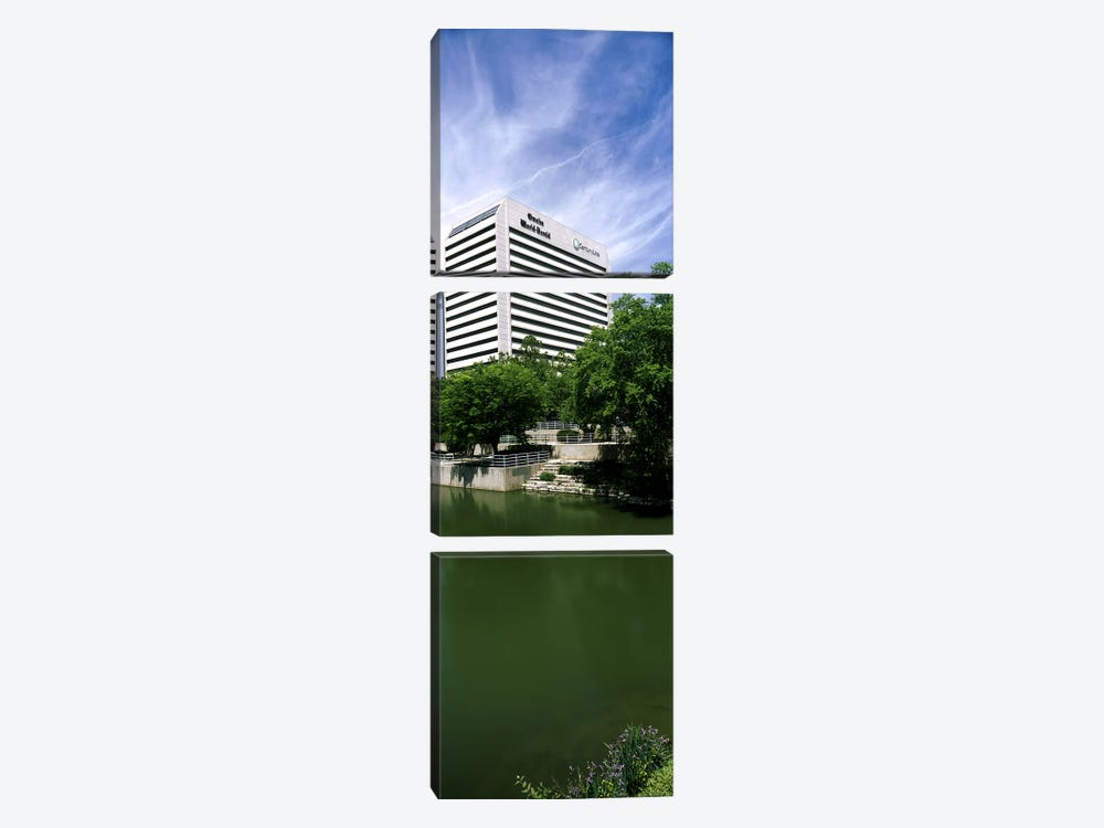 Building at the waterfront, Qwest Building, Omaha, Nebraska, USA by Panoramic Images 3-piece Canvas Art