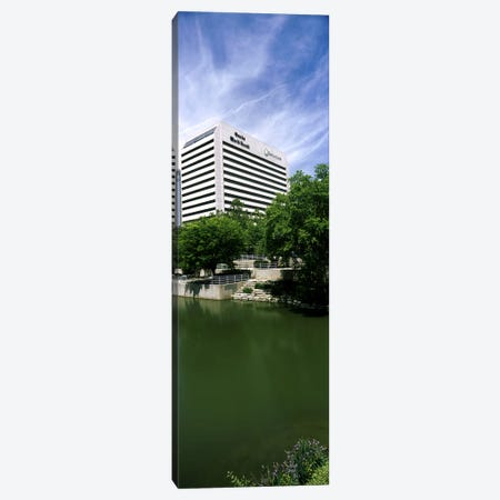 Building at the waterfront, Qwest Building, Omaha, Nebraska, USA Canvas Print #PIM10781} by Panoramic Images Canvas Print