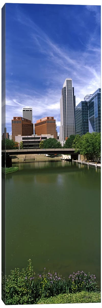 Buildings at the waterfront, Omaha, Nebraska, USA Canvas Art Print