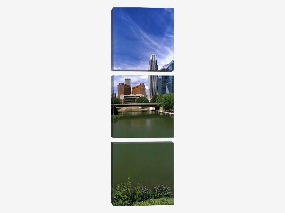 Buildings at the waterfront, Omaha, Nebraska, USA by Panoramic Images 3-piece Canvas Art Print