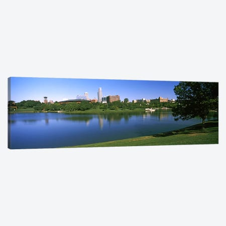 Buildings at the waterfront, Omaha, Nebraska, USA #2 Canvas Print #PIM10784} by Panoramic Images Canvas Art