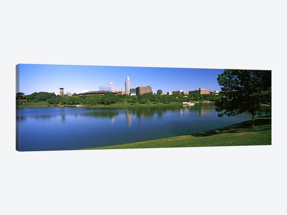 Buildings at the waterfront, Omaha, Nebraska, USA #2 by Panoramic Images 1-piece Canvas Print