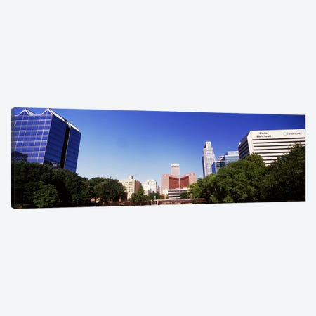 Buildings in a city, Qwest Building, Omaha, Nebraska, USA Canvas Print #PIM10787} by Panoramic Images Canvas Wall Art