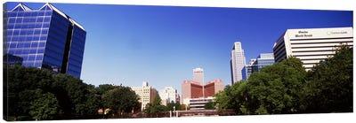 Buildings in a city, Qwest Building, Omaha, Nebraska, USA Canvas Art Print