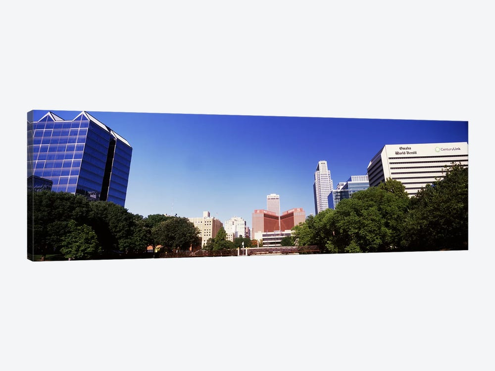 Buildings in a city, Qwest Building, Omaha, Nebraska, USA by Panoramic Images 1-piece Canvas Artwork