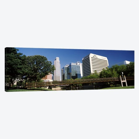 Buildings at the waterfront, Qwest Building, Omaha, Nebraska, USA #2 Canvas Print #PIM10788} by Panoramic Images Art Print