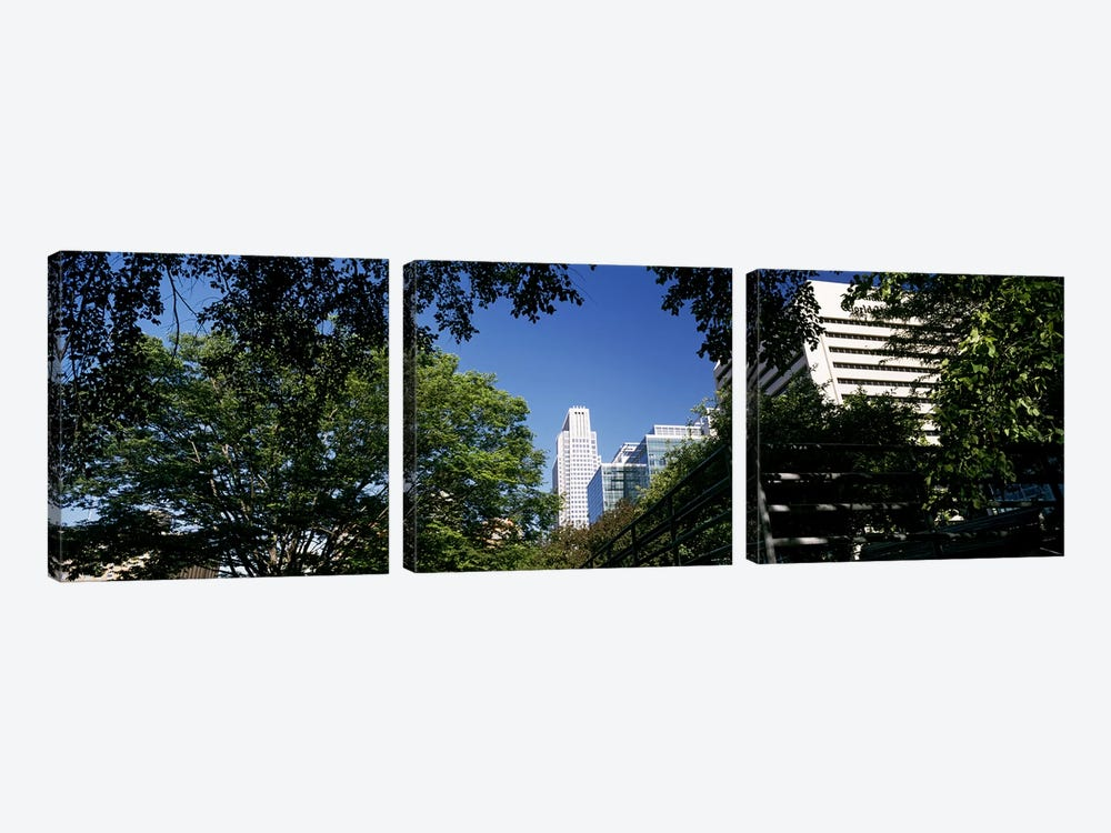 Buildings in a city, Qwest Building, Omaha, Nebraska, USA #2 by Panoramic Images 3-piece Canvas Wall Art
