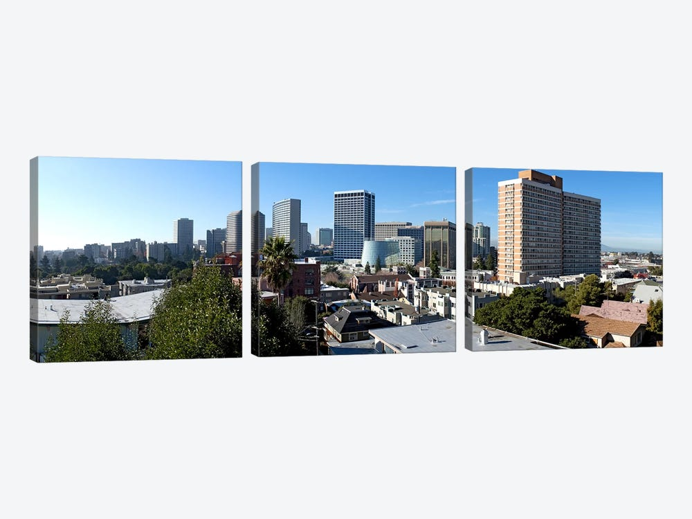 View over Oakland from Adams Point, California, USA by Panoramic Images 3-piece Canvas Wall Art