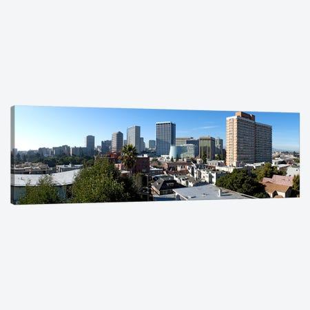 View over Oakland from Adams Point, California, USA Canvas Print #PIM10790} by Panoramic Images Canvas Artwork