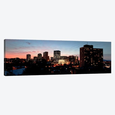 Skyline at dusk, Oakland, California, USA Canvas Print #PIM10791} by Panoramic Images Canvas Art