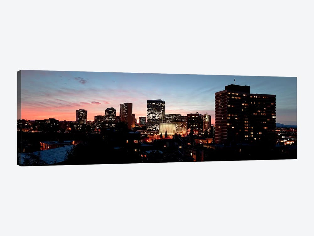 Skyline at dusk, Oakland, California, USA by Panoramic Images 1-piece Art Print