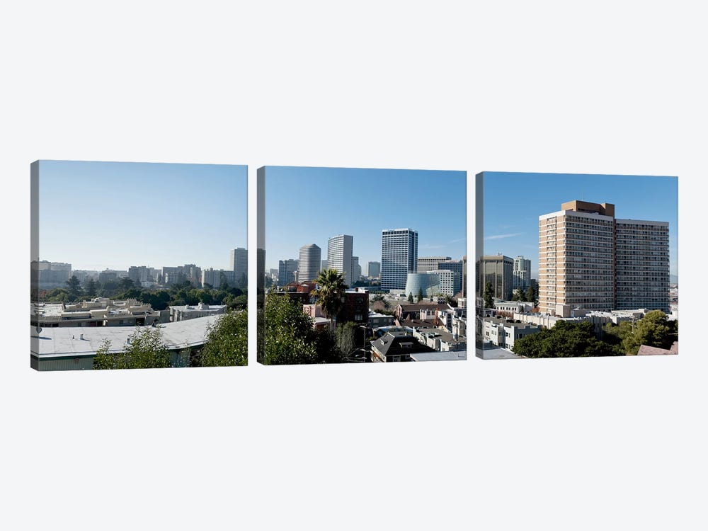 View over Oakland from Adams Point, California, USA #2 by Panoramic Images 3-piece Canvas Wall Art