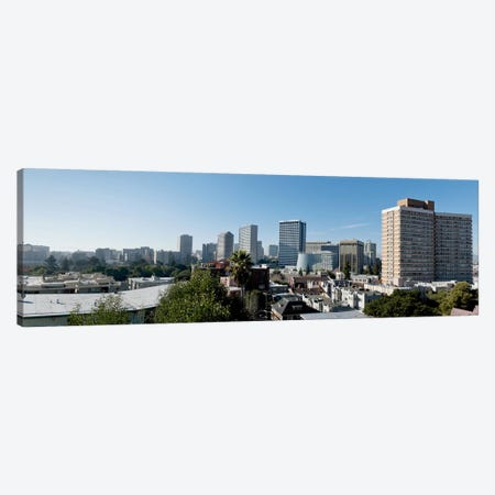 View over Oakland from Adams Point, California, USA #2 Canvas Print #PIM10792} by Panoramic Images Canvas Wall Art