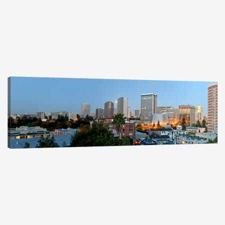 Skyline at dawn, Oakland, California, USA Canvas Print #PIM10795} by Panoramic Images Canvas Art Print