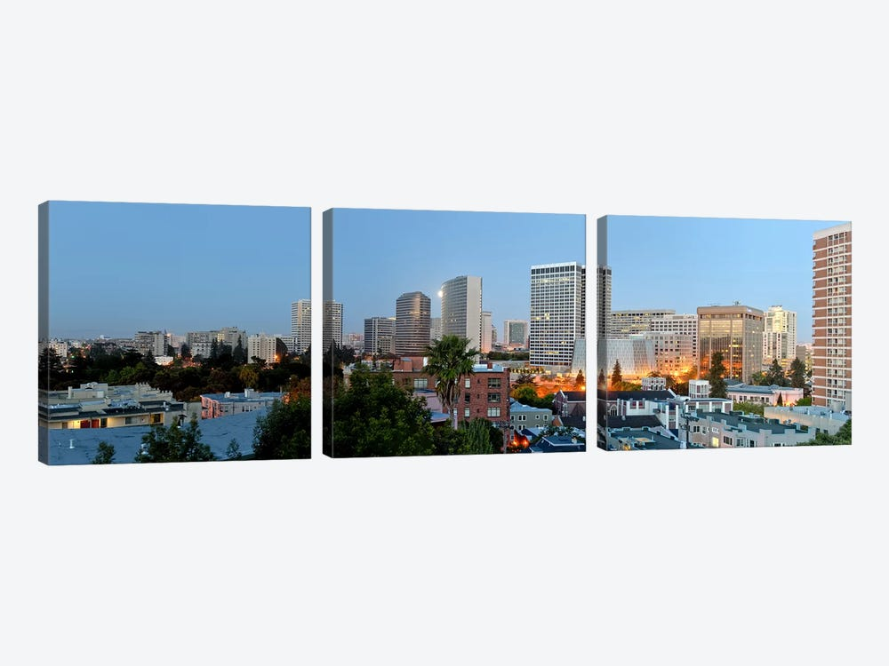 Skyline at dawn, Oakland, California, USA by Panoramic Images 3-piece Canvas Art Print