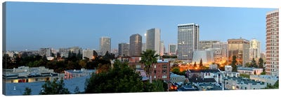 Skyline at dawn, Oakland, California, USA Canvas Art Print