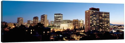 Skyline at dusk, Oakland, California, USA #2 Canvas Print #PIM10796