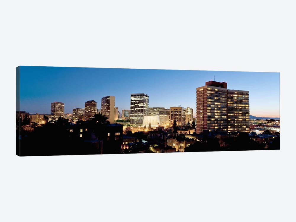 Skyline at dusk, Oakland, California, USA #2 by Panoramic Images 1-piece Canvas Artwork