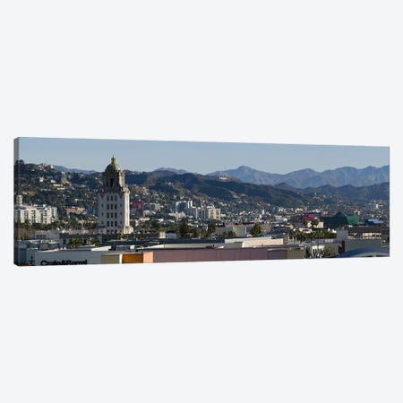High angle view of a city, Beverly Hills City Hall, Beverly Hills, West Hollywood, Hollywood Hills, California, USA Canvas Print #PIM10800} by Panoramic Images Canvas Artwork