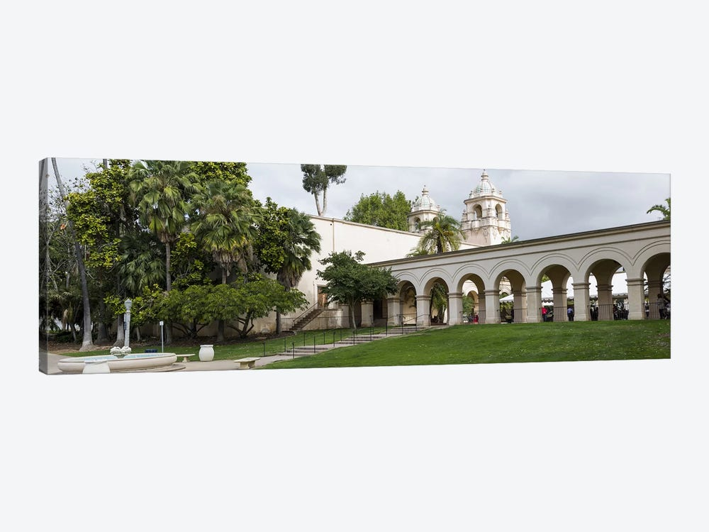 Colonnade in Balboa Park, San Diego, California, USA by Panoramic Images 1-piece Canvas Artwork