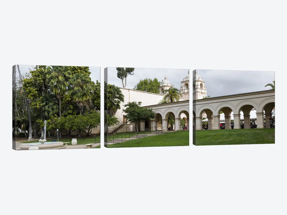 Colonnade in Balboa Park, San Diego, California, USA by Panoramic Images 3-piece Canvas Art