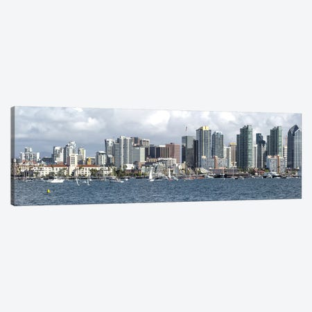 Buildings at the waterfront, San Diego, California, USA Canvas Print #PIM10804} by Panoramic Images Canvas Art Print