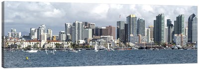 Buildings at the waterfront, San Diego, California, USA Canvas Art Print
