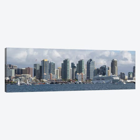 Buildings at the waterfront, San Diego, California, USA #2 Canvas Print #PIM10805} by Panoramic Images Canvas Print