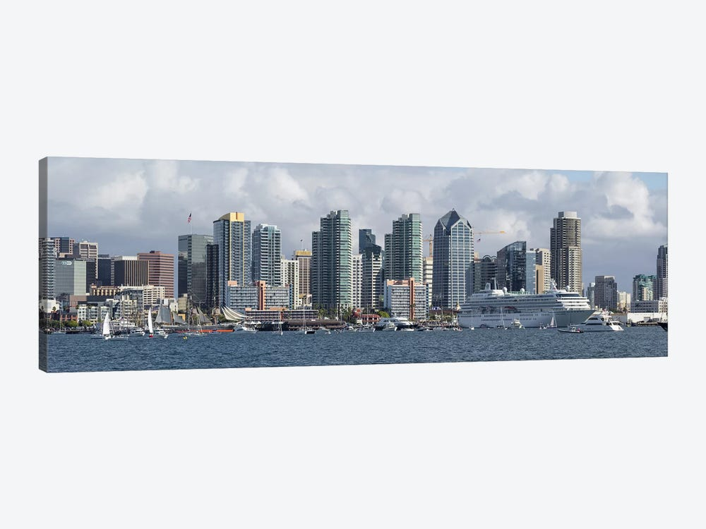 Buildings at the waterfront, San Diego, California, USA #2 1-piece Canvas Wall Art