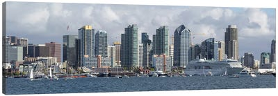 Buildings at the waterfront, San Diego, California, USA #2 Canvas Art Print