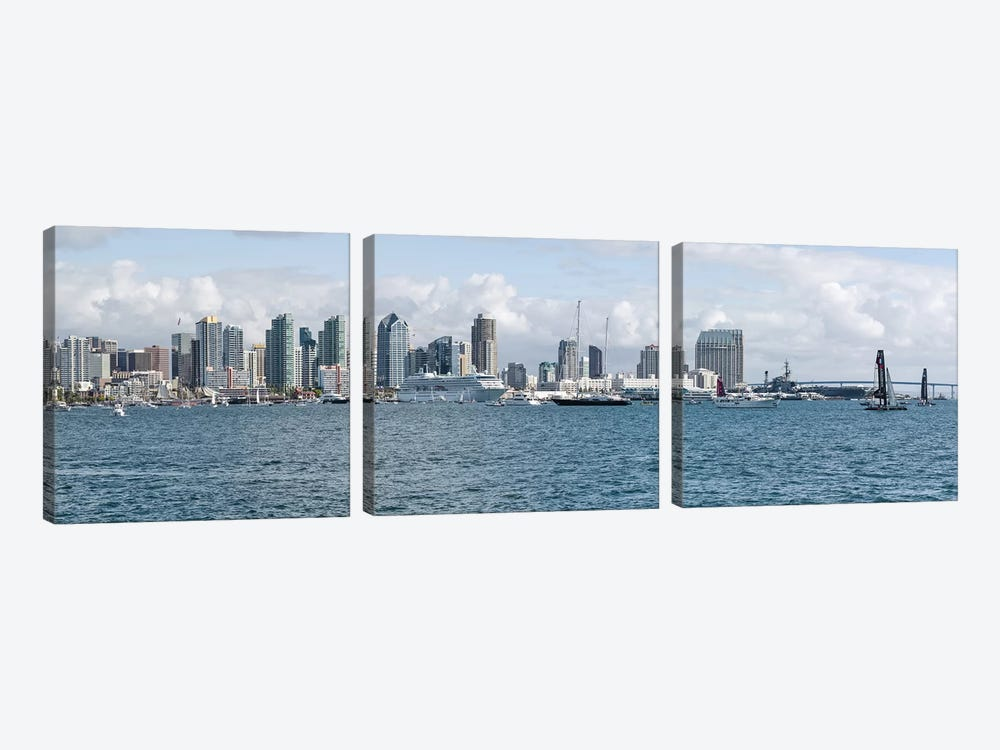 Buildings at the waterfront, San Diego, California, USA #3 by Panoramic Images 3-piece Canvas Art Print