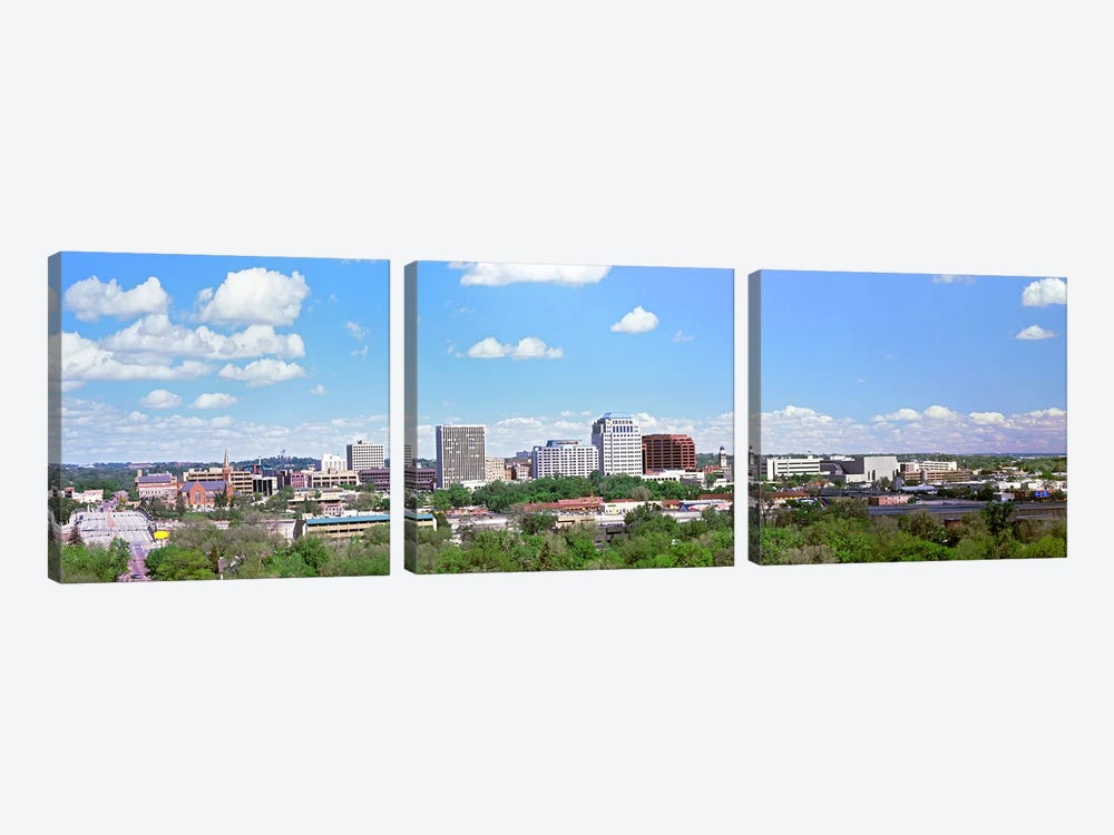 Buildings in a city, Colorado Springs, Colorado, USA by Panoramic Images 3-piece Canvas Artwork