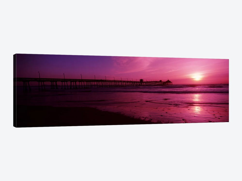 Pier in the pacific ocean at dusk, San Diego Pier, San Diego, California, USA #2 by Panoramic Images 1-piece Canvas Wall Art