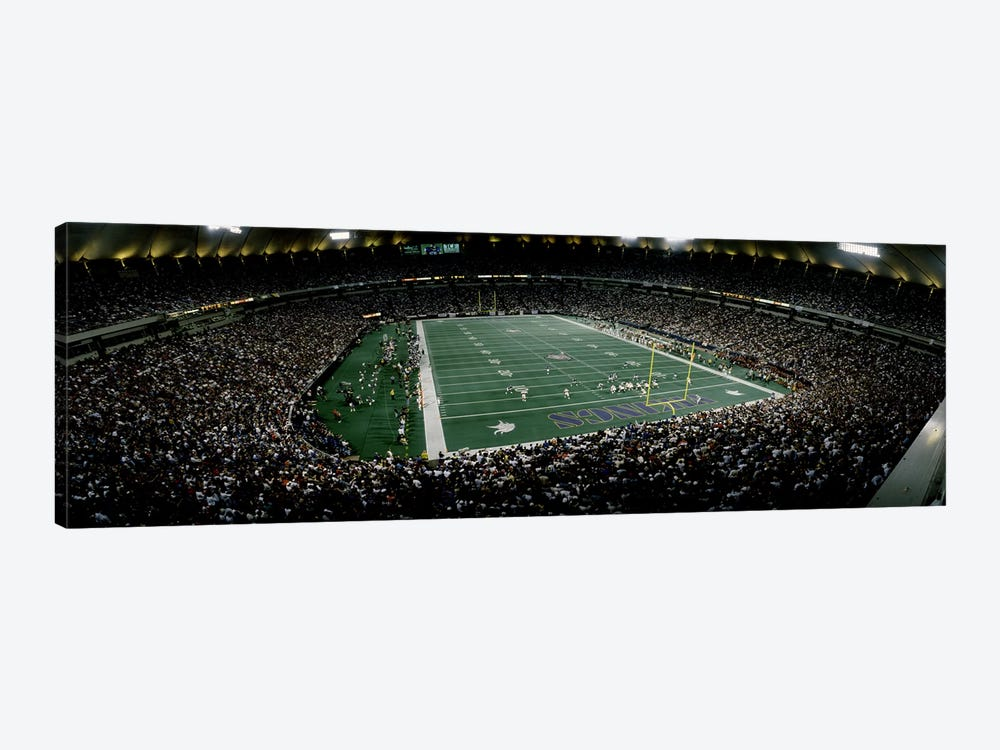 Spectators in an American football stadiumHubert H. Humphrey Metrodome, Minneapolis, Minnesota, USA by Panoramic Images 1-piece Canvas Print