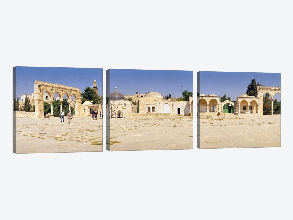 Temple of Rocks, Dome of The Rock, Temple Mount, Jerusalem, Israel by Panoramic Images 3-piece Canvas Wall Art