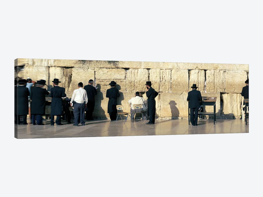 People praying at Wailing Wall, Jerusalem, Israel by Panoramic Images 1-piece Canvas Print