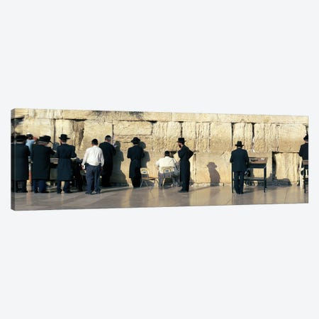 People praying at Wailing Wall, Jerusalem, Israel Canvas Print #PIM10815} by Panoramic Images Canvas Art