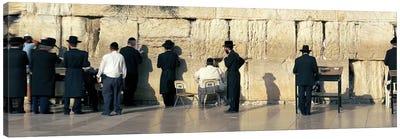 People praying at Wailing Wall, Jerusalem, Israel Canvas Art Print