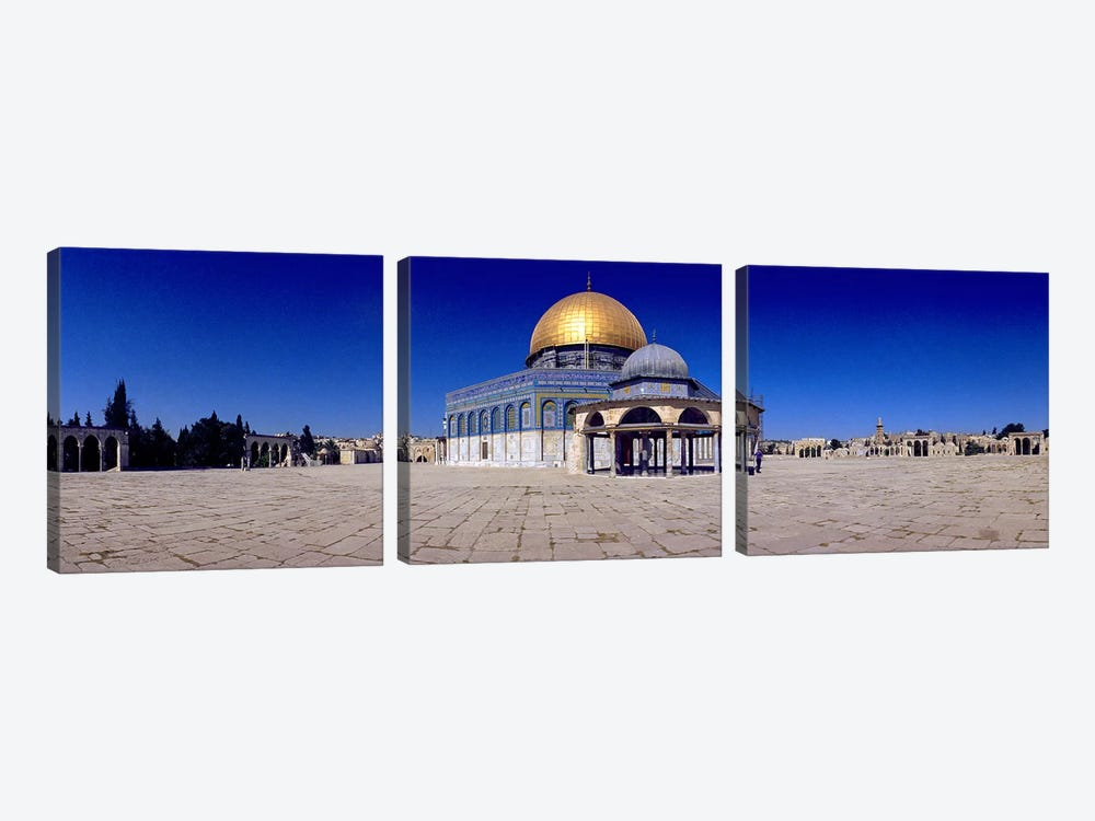Dome of The Rock, Temple Mount, Jerusalem, Israel by Panoramic Images 3-piece Canvas Art