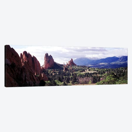 Rock formations on a landscape, Garden of The Gods, Colorado Springs, Colorado, USA Canvas Print #PIM10820} by Panoramic Images Canvas Wall Art