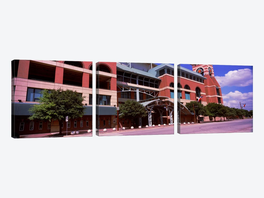 Facade of a baseball stadium, Minute Maid Park, Houston, Texas, USA by Panoramic Images 3-piece Canvas Artwork