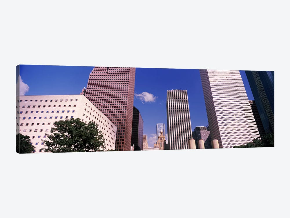 Low angle view of Downtown skylines, Houston, Texas, USA by Panoramic Images 1-piece Canvas Print