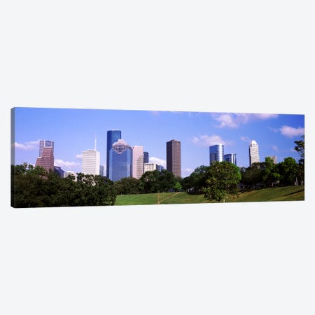 Downtown skylines, Houston, Texas, USA Canvas Print #PIM10823} by Panoramic Images Canvas Wall Art