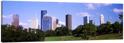 Downtown skylines, Houston, Texas, USA Canvas Art Print