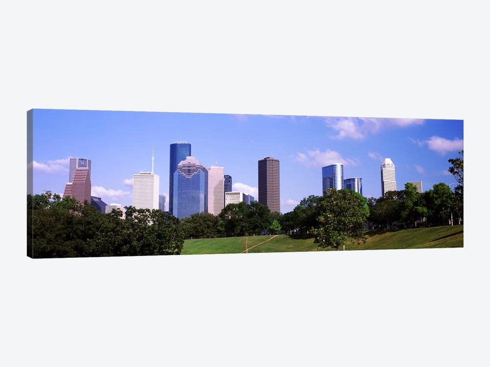 Downtown skylines, Houston, Texas, USA by Panoramic Images 1-piece Canvas Wall Art