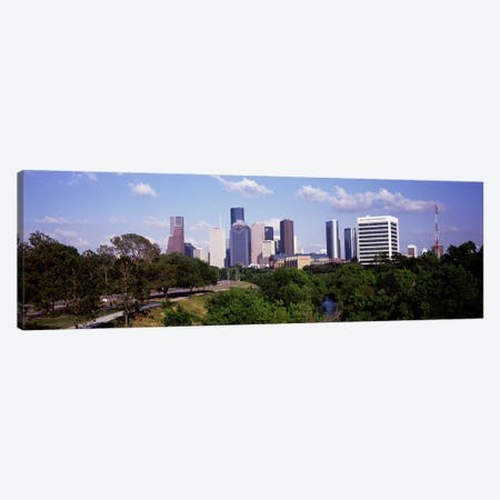 Downtown skylines, Houston, Texas, USA #2 Canvas Print #PIM10824} by Panoramic Images Canvas Print