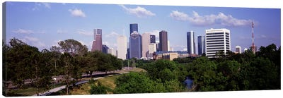 Downtown skylines, Houston, Texas, USA #2 Canvas Art Print